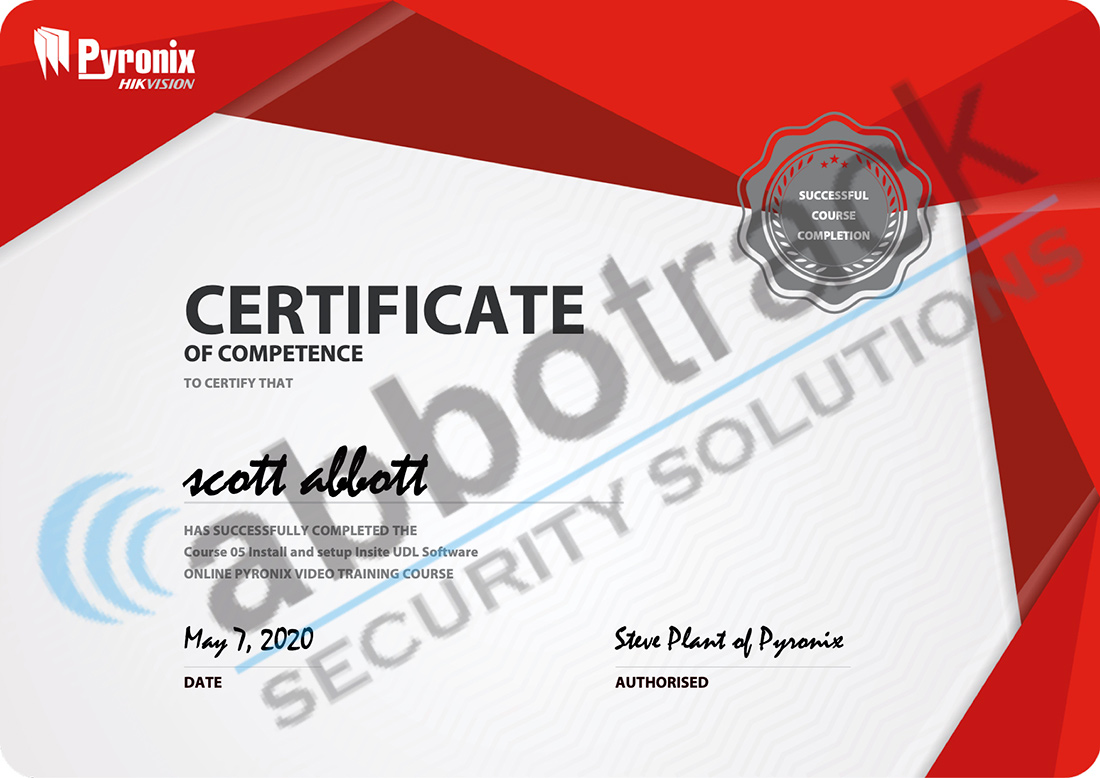 Certificate-for-completing-the-training-for-Install-and-setup-of-Insite-and-UDL-software