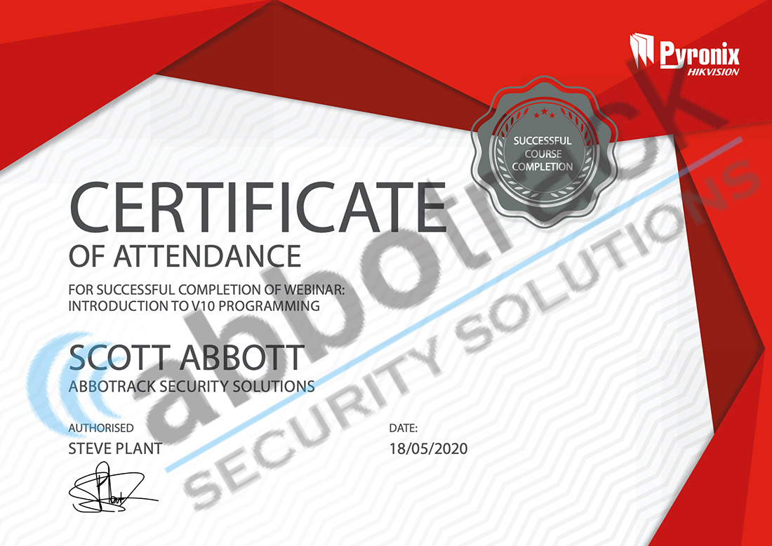 Certificate-for-completing-the-training-for-Introduction-to-V10-Programming