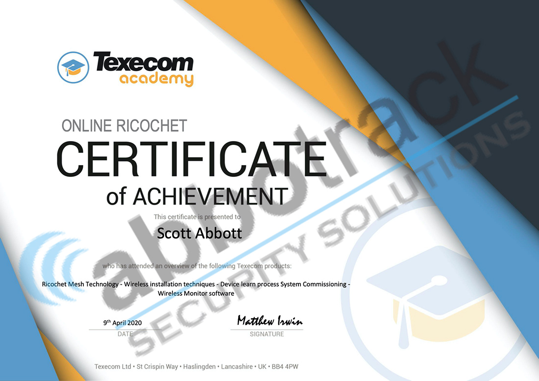 Certificate-for-completing-the-training-for-Ricochet-Technology